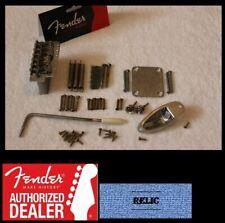 "Fender Aged/Relic Chrome Stratocaster 2 3/16"" Body Hardware Set - USA Strat"