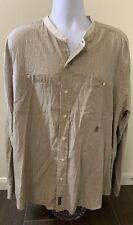 Vintage Tommy Hilfiger Long Sleeve Button Up Cotton Shirt Blue Stripe Men XXL