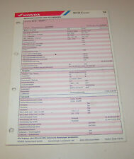 Inspektionsblatt Honda SH 50 E Scoopy - ab 1984!