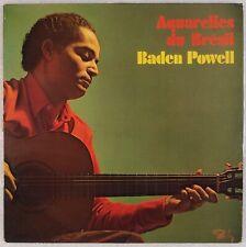 BADEN POWELL: Aquarelles Du Bresil '70 French Barclay Bossa Jazz Guitar LP