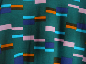 LuLaRoe Classic NWT XS Teal Green with Pink Purple Blue Rectangles