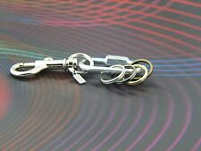 NEW Designer Keychain 4 Detachable Key rings Key Holder Secure Clip-on ID COLOR
