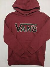 Vans New Classic Pullover Hooded Sweatshirt Youth Boy's Medium Red