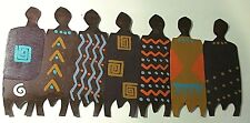 "METAL WALL ART ""ROW OF PEOPLE"" BY BILL FINKS PRIMITIVE AFRICAN? NATIVE AMERICAN?"