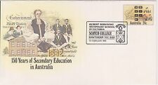 (K35-7)1982 AU 24c PSE 150 years of secondary education Scotch college cancel(A)
