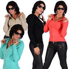 Taillenlange Langarm Damen-Pullover & -Strickware mit Reißverschluss