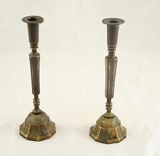 Bronze Pair Candlesticks Candlestick Candle Holder Holders Vintage for Shabbat