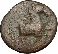 Kyme in Aeolis 350BC Horse & Vase Genuine Authentic Ancient Greek Coin  i51860