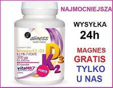 Witamina K2 MK-7 FORTE 200 ug z Natto D3 2000 j.m. Aliness + GRATIS