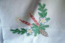 Haushalts-Tischdecken im Weihnachts-Stil mit Stickerei aus Baumwolle