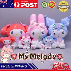 2Pcs/Set Hello My Melody Plush Toys Cute Kuromi Cinnamoroll Pendant Kid Doll Toy