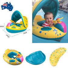 Inflatable Baby Kids Float Seat Boat Tube Ring Boat Sunshade Swimming Pool Toy