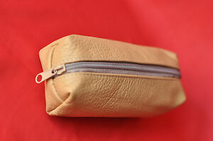 Women Men's Shaving Toiletry Storage Makeup Cosmetic Bag  Pouch genuine Leather