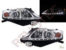 LED Strip Chrome Projector Headlights (Halogen) For 2010-2012 Lexus RX350