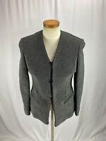 Emanuel Ungaro Women's Gray Silver shinny Blazer Jacket 4P