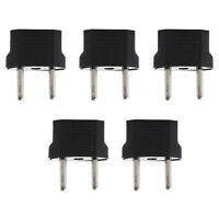 5x USA to European Euro EU Travel Charger Adapter Plug Outlet Conver New