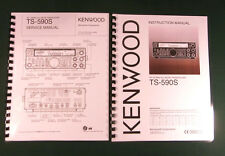 Kenwood TS-590S Service & Instruction Manuals -Card Stock Covers & 32 LB Paper!