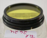 Orig Leica Leitz Gelb Yellow Aufsteck Push-on Filter Lens A-36mm 36Ø Ger 2624/8