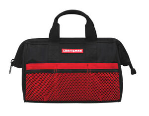 Craftsman 13 in. W x 13 in. H Ballistic Nylon Tool Bag 4 pocket Black 1 pc.