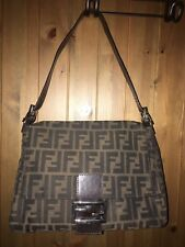 Vintage Fendi FF Zucca Manma Shoulder Bag Purse Beautiful Condition