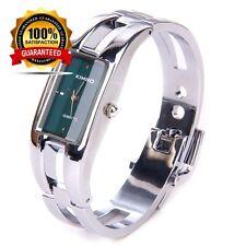 Silver Quartz Women Ladies Bangle Bracelet Wrist Watch Fashion Sport Luxury