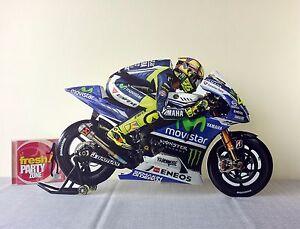 "Valentino Rossi Display Stand Standee Figure 23"" Yamaha MotoGP Motor Superbike"