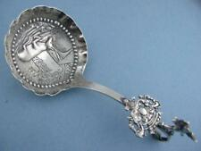 Old Dutch 833 Silver MONKEY SPOON cow scene bowl & angel / cherub handle