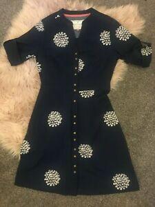 BRAKEBURN Ladies short sleeve Navy Dress Size 8