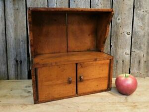Antique Primitive Child's Cupboard Hutch Sample Size Patina