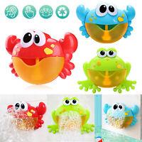 Catoon Bubble Machine Musical Bubble Maker Bath Baby Kids Toy Bath Shower Fun