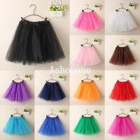 New Ladies Girls Women Adult Tutu Skirts Pettiskirt Mini Fancy Dress Party