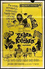 ZEBRA IN THE KITCHEN Jay North ORIGINAL 1972 1-SHEET MOVIE POSTER