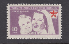 Turkey Sc RA180 MNH. 1955 10L rose lilac Nurse & Child, top value to set, VF.