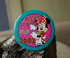 "Minnie & Friends 2003 Paradise Pier Hotel Walt Disney Round 3"" Metal Pin Pinback"