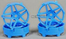 Tetsujin SOUTHERN CROSS RC Car Wheels BLUE Adjustable Offset 3-6-9mm -4 RIMS