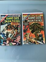 Marvel Giant Size MAN-THING Lot Of 2. #2 & 3 Sleeved & Boarded. Uncertified Grea