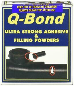 Q BOND Ultra Strong Adhesive Glue Repair Kit & Filler Powder 10 Second Setting