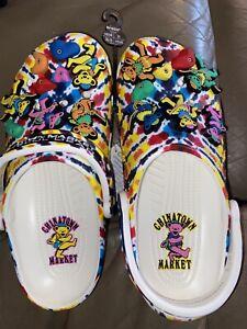 Crocs Classic Clog (Grateful dead x Chinatown market) Mens size 6 women size 8