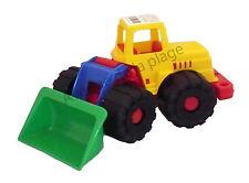 Tractopelle 26 cm en plastique, enfant, jouet, jeux pas cher neuf