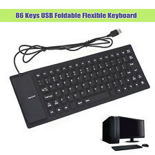 [Cheap] 86 Keys USB Foldable Flexible Keyboard Roll Up For Laptop PC Notebook