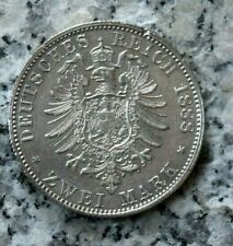 2 Mark 1888 A Preußen Deutsches Kaiserreich Friedrich III. 1888