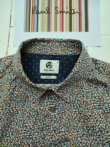 Paul Smith Men's Shirt - Size Small - Multicolour Print - Really SUPERB & COOL