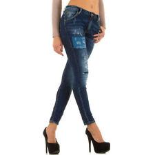 Hosengröße 38 Damen-Jeans aus Denim mit hoher Bundhöhe