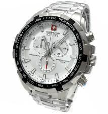 Swiss Military Hanowa 06-5272.04.001 caballeros reloj Chrono plata de acero inoxidable NUEVO