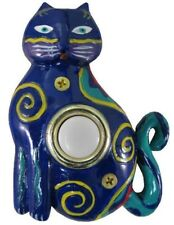 Surface Mount Push Button Doorbell Painted Kitty Cat Colorful