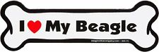 Imagine This Bone Car Magnet, I Love My Beagle, 2-Inch by 7-Inch