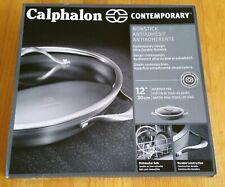 "Calphalon Contemporary Hard-Anodized Aluminum Nonstick 12"" Everyday Pan - Black"