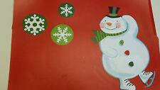 Set of 4 Holiday Time Snowmen Vinyl Placemats Holiday Table Setting Christmas