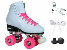 Epic Classic White & Pink Quad Roller Skates - US6 NEW FREE SHIPPING