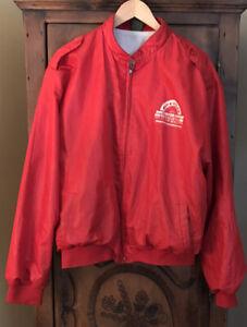 VINTAGE  Maple grove raceway Mens XL Lined Red Windbreaker '87 Team Qualifier